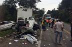 """""""Foi um grande susto"""", desabafa condutora de Voyage envolvida em acidente com morte na ERS-122 em Caxias Roni Rigon/ Agência RBS/"""