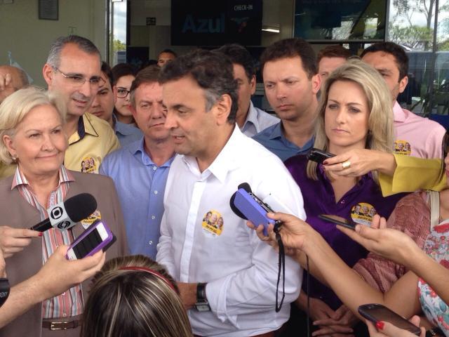 Aécio Neves chega a Santa Maria Jean Pimentel/RBS