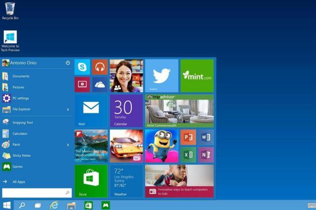 Microsoft pula versão e anuncia Windows 10 com retorno do menu Iniciar Microsoft/Divulgação