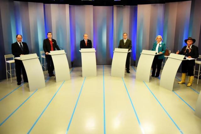 Ana Amélia e Tarso travam confronto em último debate entre concorrentes ao Piratini Marcelo Oliveira/Agencia RBS
