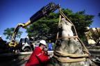 Mãos estrangeiras ajudam no resgate do monumento mais antigo de Porto Alegre Ronaldo Bernardi/Agência RBS