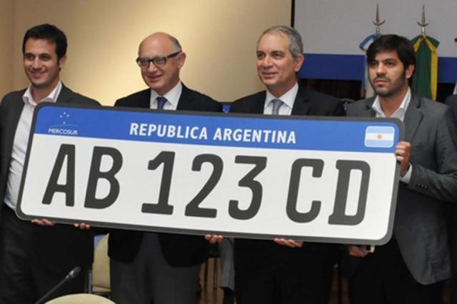 Modelo padrão de placas para carros é aprovado pelo Mercosul Reprodução/Ministério das Relações Exteriores da Argentina,Divulgação