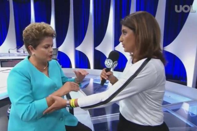 Dilma passa mal após debate e interrompe entrevista  UOL/Divulgação
