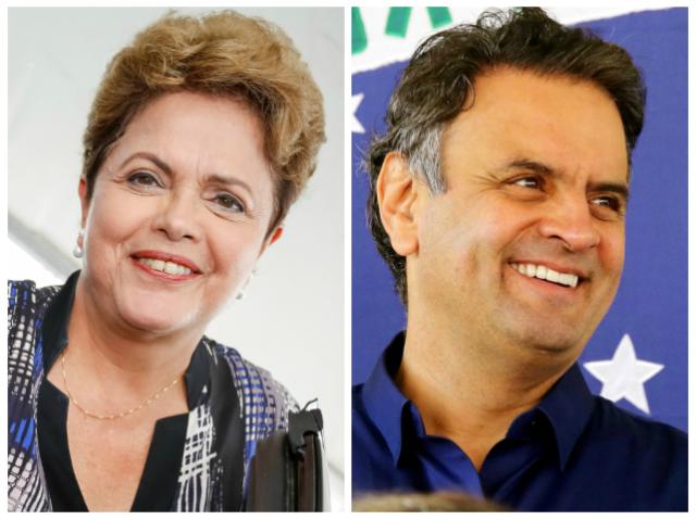 Ibope: Dilma tem 53% dos votos válidos, e Aécio, 47% (Montagem sobre fotos de Marcos Fernandes e Ichiro Guerra/Divulgação)