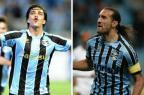 Já imaginaram Barcos e Moreno formando o ataque do Grêmio? Montagem sobre fotos de Mauro Vieira e Bruno Alencastro/Agência RBS/