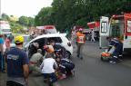 Acidente entre três veículos deixa trânsito em meia-pista na RSC-470, em Bento (Bruno Mezzomo / Leouve / Divulgação/)