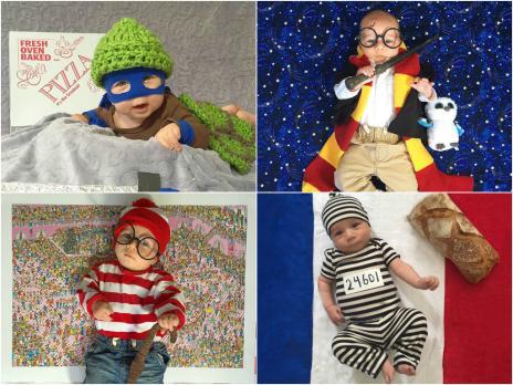 'Bebê Halloween' usa fantasia diferente todos os dias (Jessica Chavkin/Reprodução)