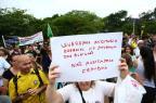 Manifestantes pedem auditoria de urnas eletrônicas das eleições à presidência Bruno Alencastro/Agencia RBS