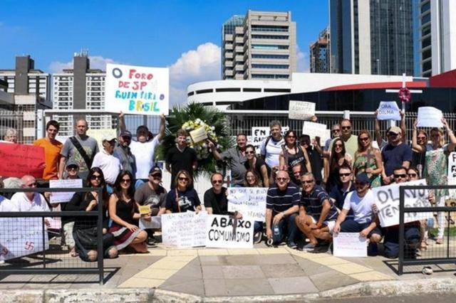 Memorial Luiz Carlos Prestes é alvo de protesto contra o comunismo Rafael Camargo/Divulgação