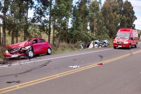 Morre mais uma vítima do acidente em Bom Jesus (Corpo de Bombeiro de Vacaria/ Divulgação/)