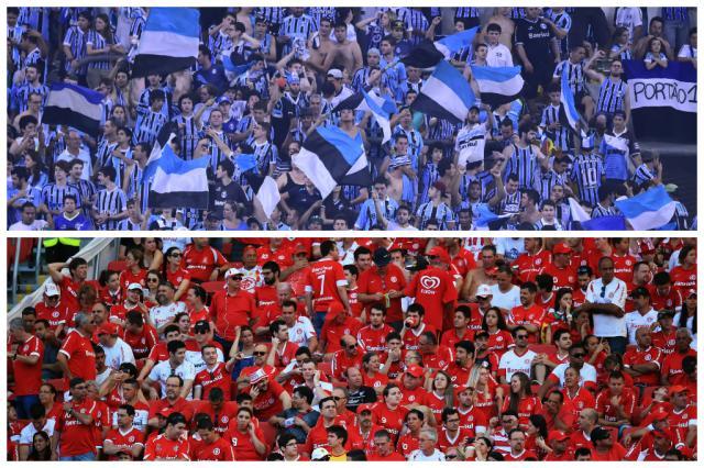 Grêmio é segundo e Inter está em sexto em lista dos mais valiosos das Américas, aponta estudo Montagem sobre fotos Ricardo Chaves e Jefferson Botega/Agência RBS