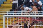 Polícia e Justiça falam dos cuidados para Joinville receber jogos da série A um ano após a briga na Arena HEULER ANDREY/AFP