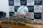 Polícia Civil apreende 31 quilos de maconha dentro de mala em Vacaria Polícia Civil/divulgação/