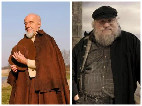 """Paulo Coelho e George R.R. Martin se oferecem para exibir """"A Entrevista"""" (Montagem/Márcio de Souza/Divulgação)"""