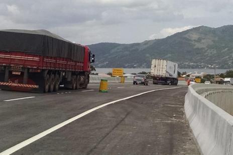 Trecho duplicado na BR-101, em Laguna, será liberado ao longo desta sexta-feira (DNIT/SC/Divulgação)