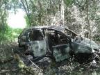 Carro que teria sido usado para transportar homem torturado é encontrado incendiado Polícia Civil/divulgação
