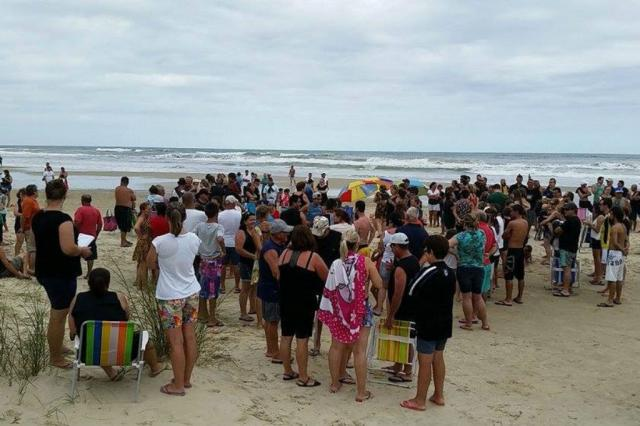 Moradores e veranistas protestam por mais salva-vidas em Arroio do Sal Daniel Mengue/Arquivo Pessoal