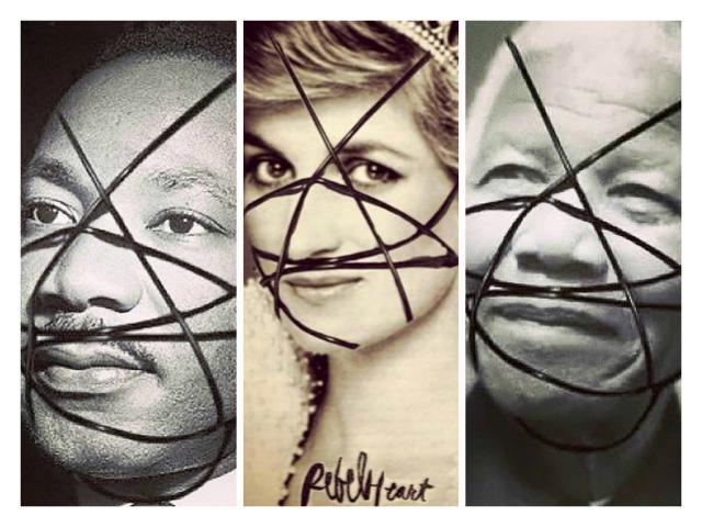 Madonna rebate cr�ticas de racismo ap�s publicar fotos de Mandela e Luther King Facebook/Reprod~u��o