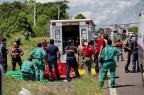 Doze pessoas seguem internadas após acidente com ônibus em Glorinha Lauro Alves/Agencia RBS