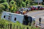 Ônibus que tombou e matou oito pessoas em Glorinha estava a 102 km/h Lauro Alves/Agencia RBS