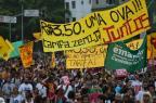 Protesto contra tarifas tem correria e bombas de gás em São Paulo NELSON ALMEIDA / AFP/
