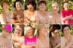 Mulheres que enfrentaram o câncer de mama posam para as páginas de um calendário Nina Borba/Divulgação/ ONG Amigas da Mama