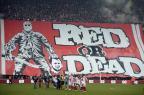 Bandeirão polêmico na Bélgica pode render punição pesada a torcedores YORICK JANSENS/AFP PHOTO / BELGA
