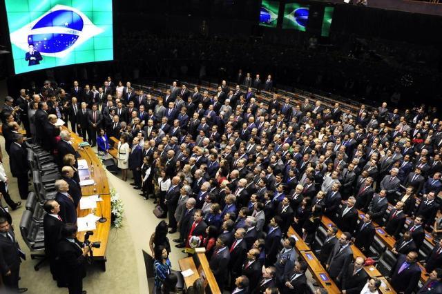 Deputados federais eleitos tomam posse na Câmara Luis Macedo/Agência Câmara
