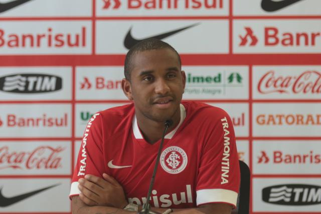 """Anderson é apresentado no Inter: """"Quero um Brasileirão, só tenho pela Série B"""" Ricardo Duarte/Agência RBS"""