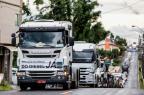 Protesto de caminhoneiros tem 10 pontos interditados em Santa Catarina (Diorgenes Pandini/Agencia RBS)