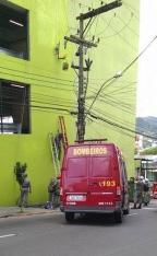 Trabalhador fica pendurado em prédio em Santa Maria Daniel Soldatti/Arquivo pessoal