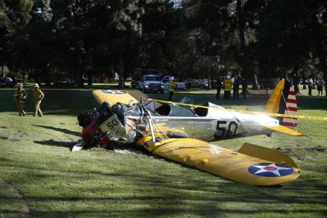 Harrison Ford se fere em acidente de avião nos EUA (Lucy Nicholson/REUTERS)