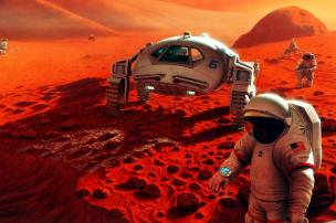 Danos cerebrais causados por radiação espacial podem comprometer missões a Marte Pat Rawlings / SAIC/Nasa