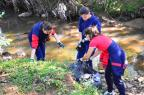 Cerca de 300 quilos de lixo são recolhidos de arroio, em Caxias do Sul Nelice de Nalle / divulgação/