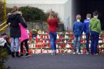Homenagem às vítimas do acidente aéreo que ocorreu no sul da França