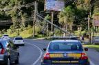Após acidente com queda de poste, BR-116 em Caxias tem bloqueio parcial PRF / Divulgação/