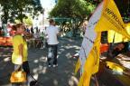 Professores protestam na Praça Saldanha Marinho em Santa Maria Gabriel Haesbaert/Especial