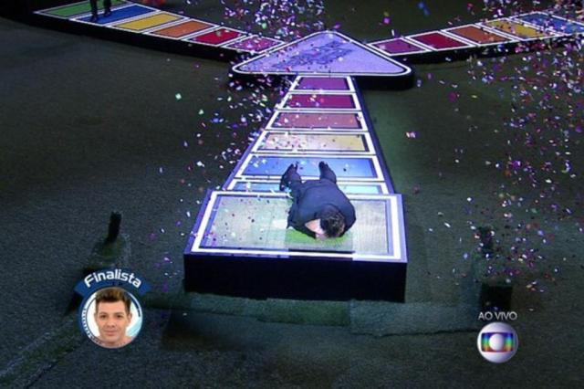 Cézar é o primeiro finalista do BBB15 TV Globo/Reprodução