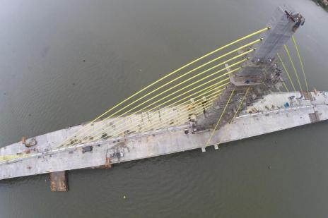 Construção da ponte de Laguna, no Sul do Estado, para por falta de pagamentos (Marco Favero/Agencia RBS)