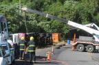 Trânsito é liberado após retirada de caminhão na ERS-122, em Farroupilha Roni Rigon/Agência RBS