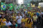 Protesto antigoverno em Caxias do Sul reúne 4,5 mil pessoas, segundo a BM Roni Rigon/Agencia RBS