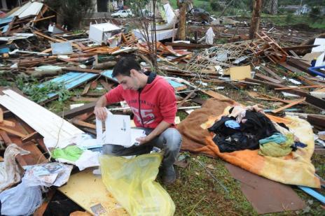 Tornado em Xanxerê: pelo menos 13 feridos seguem em hospitais do Oeste catarinense Sirli Freitas/Especial