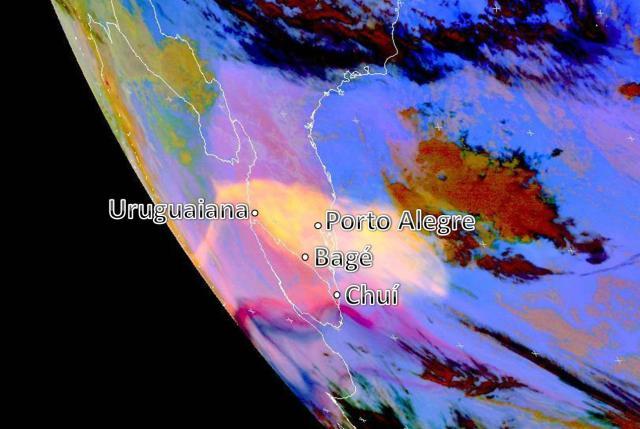 Cinzas de vulcão cobrem quase todo Rio Grande do Sul Climatempo/Divulgação