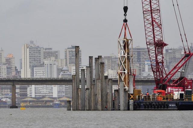 Construção de nova ponte sobre o Guaíba avança dentro do prazo Bruno Alencastro/Agencia RBS