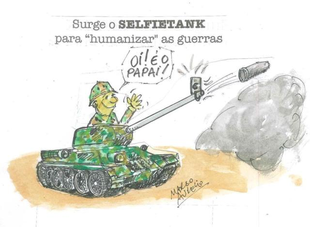 "Marco Aurélio: Selfietank - para ""humanizar"" as guerras marco aurélio/Agencia RBS"