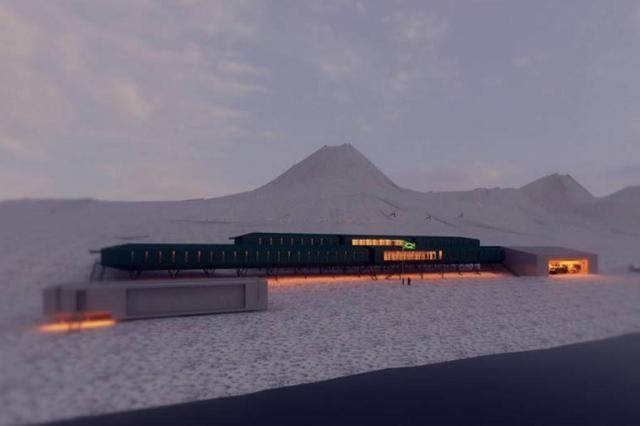 Construção da Estação Antártica Comandante Ferraz começa na sexta-feira Reprodução/Marinha do Brasil