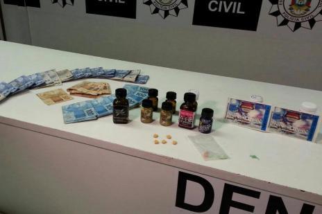 Denarc apreende nova droga no RS que aumenta a sensibilidade sexual (Denarc/Divulgação)