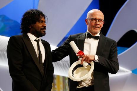 Drama francês sobre imigrante vence Palma de Ouro em Cannes (Valery Hache/AFP)