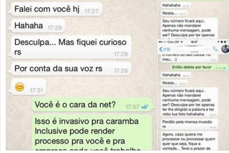Caso de assédio por WhatsApp: saiba o que fazer (Reprodução/Facebook)