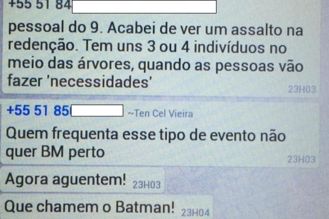 """Campanha em apoio a oficial que mandou """"chamar o Batman"""" http://www.cantinhojutavares.com"""